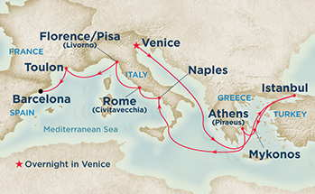 12 Day Grand Mediterranean Cruise Island Princess